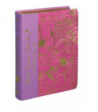 Bíblia Sagrada Ella de Estudo Conciso - Capa Luxo Duotone Rosa e Rosa