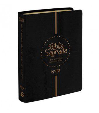 Bíblia NVI Gigante Capa Luxo Preta