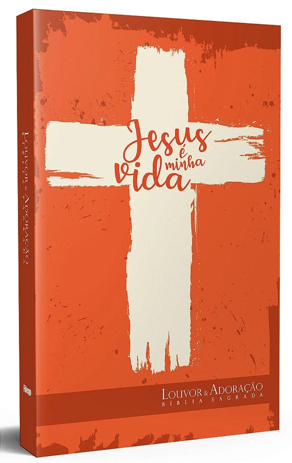 Bíblia de Estudo Louvor e Adoração Cruz Vermelha