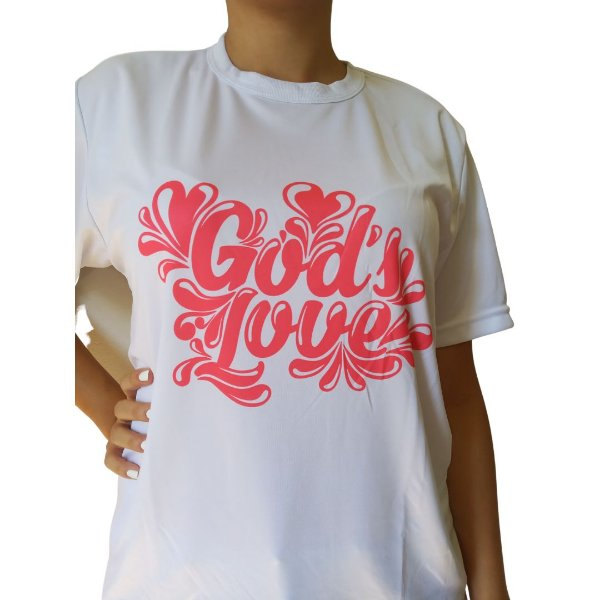Camiseta God's Love Branca