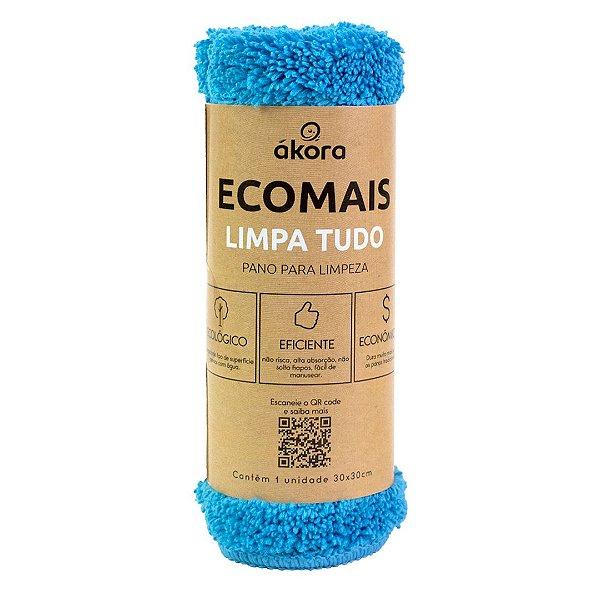 Pano de Limpeza - Ecomais Limpa Tudo - Azul Claro