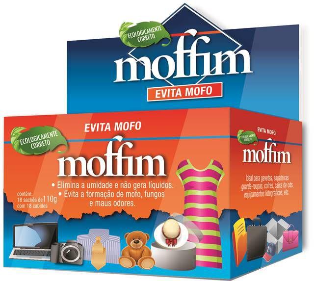 Desumidificador Antimofo Moffim caixa 18 sachês de 110g