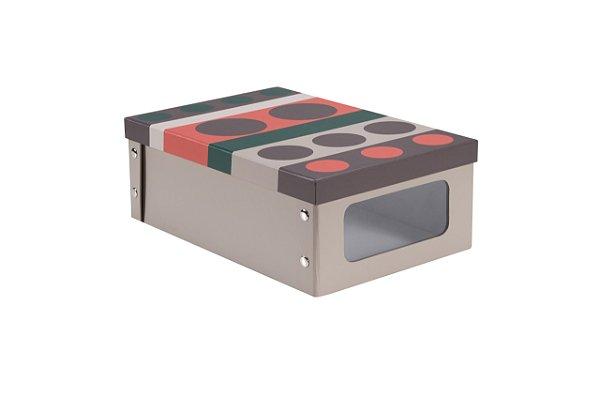 Caixa Desmontável com Visor em Papelão Color 24X36X13