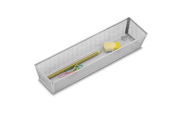 Cesto Organizador Brinox 30 x 8 x 5 cm Cinza