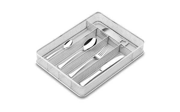 Cesto Organizador com Divisória 31,5 x 23 x 5,5 cm Cinza Brinox