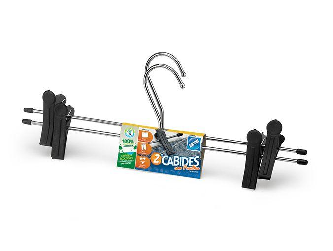 Cabides Para Saia Com Presilha - Conjunto Com 2 Unidades