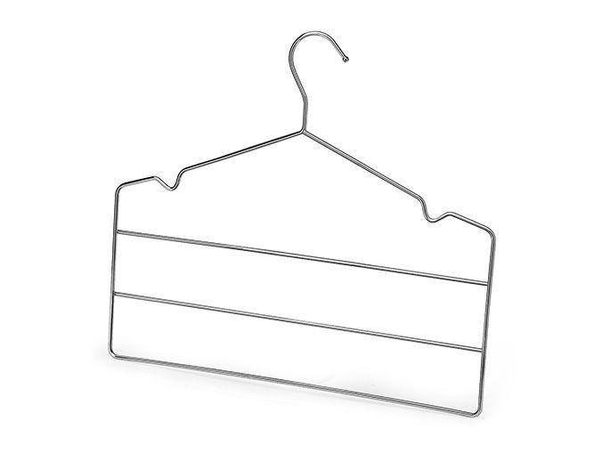 Cabides Triplo para Calça Cromado - Conjunto com 2 unidades