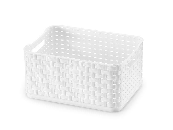 Caixa Rattan 1,74 Lts - Branco