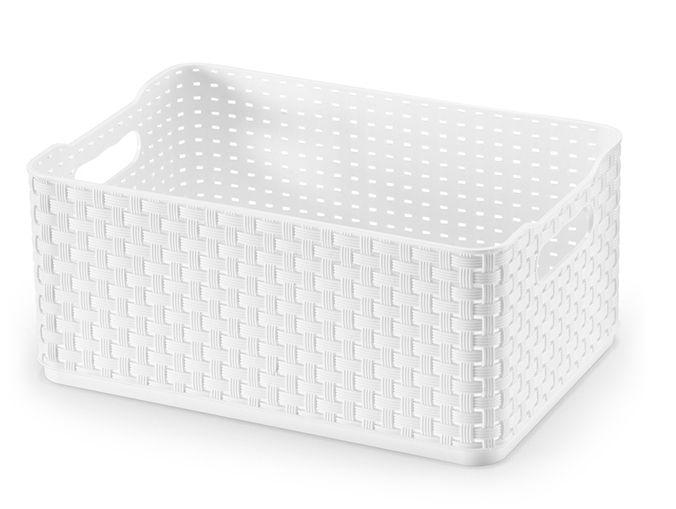 Caixa Rattan 4,5 Lts - Branco