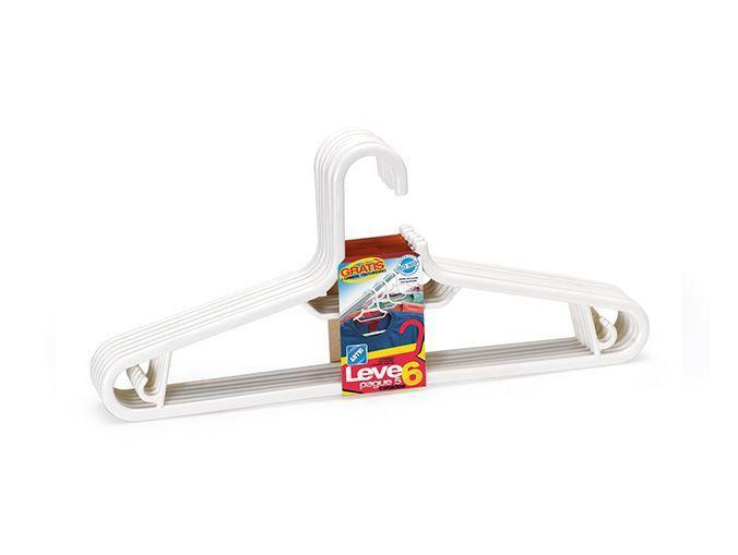 Cabide Plástico - Leve 6 Pague 5 - Branco
