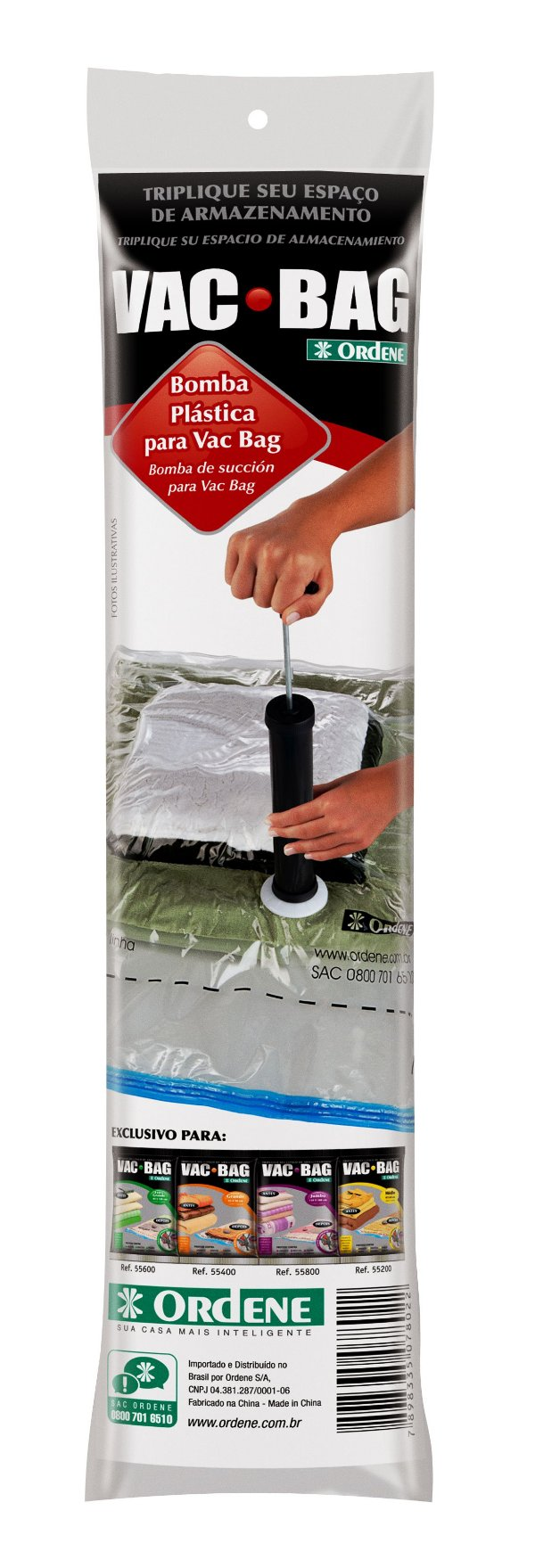 Bomba de Plástico para Vac Bag