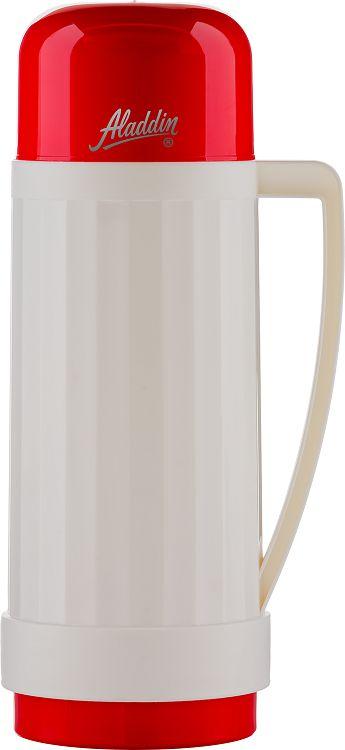 Garrafa Térmica Continental 1L Branco com Vermelho
