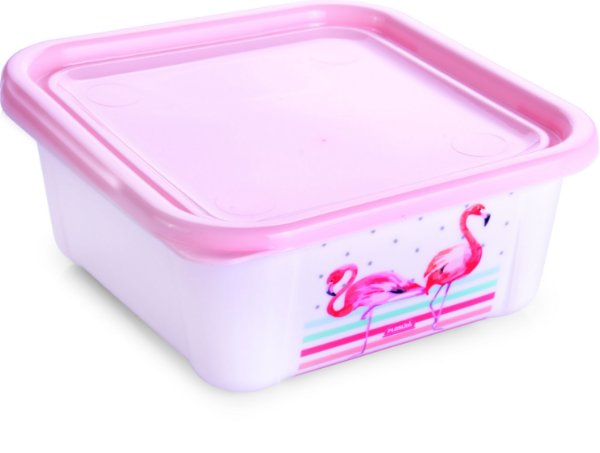 Pote Duo Quadrado Flamingo - 450ml