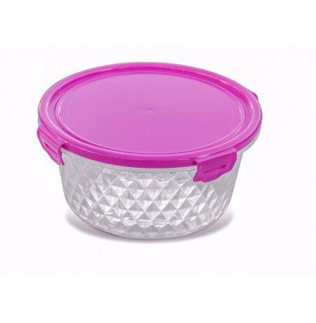 Pote Cristal  1,7L - Redondo Rosa