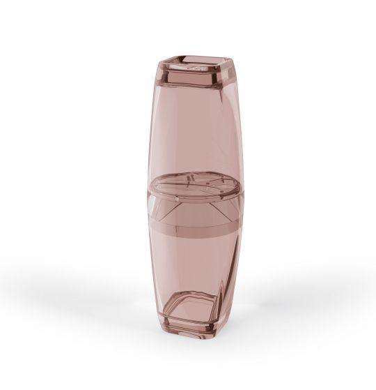 Porta Escova de Dentes com Tampa Premium - Rosa
