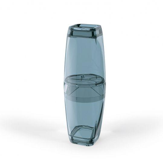 Porta Escova de Dentes com Tampa Premium - Azul