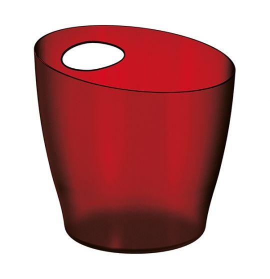 Balde de Gelo Acrílico - Vermelho