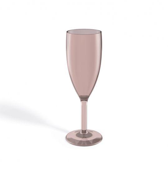 Taça para Champagne Acrílico - Rosa