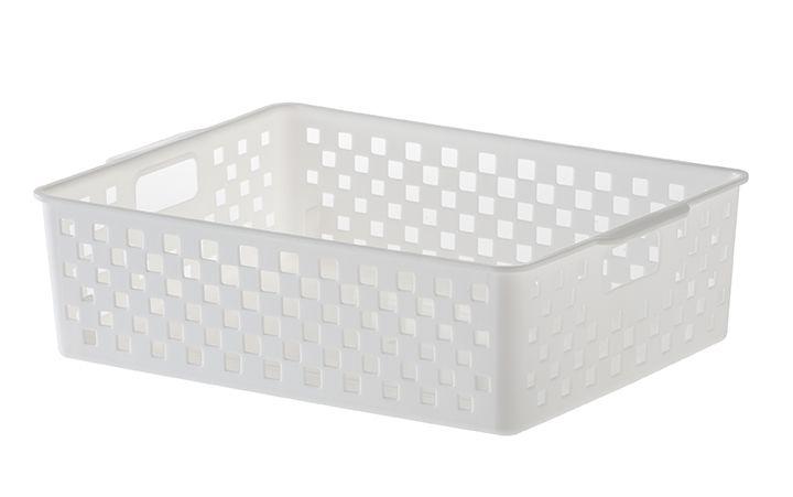 Cesto Organizador Quadratta 27x21x8cm  Branco