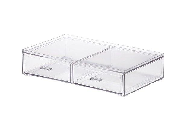 Caixa Organizadora 2 Gavetas 31,5x18,5x7cm - Elegance