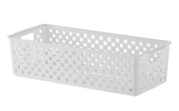 Cesto Organizador Quadratta 34x15x9 Branco