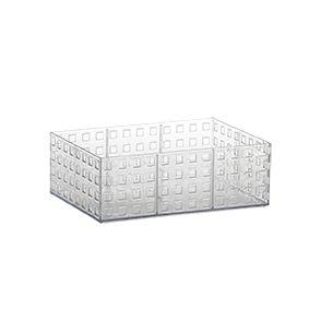 Organizador Empilhável Quadratta 23 x 16 x 8 cm Transparente