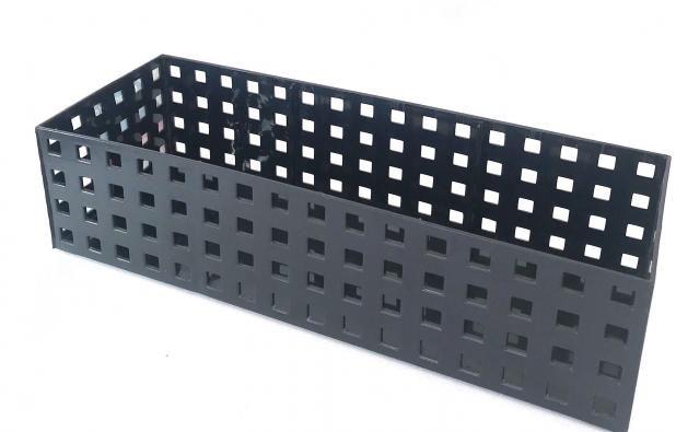 Organizador Empilhável Quadratta 32x11,5x8cm - Preto