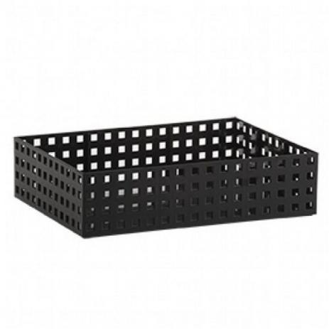 Organizador Empilhável Quadratta 32 X 23 X 8 cm - Preto