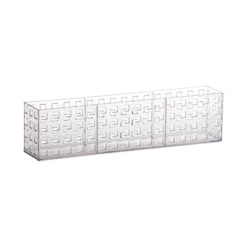 Organizador Empilhável Quadratta 32 X 5,7 X 8cm Transparente