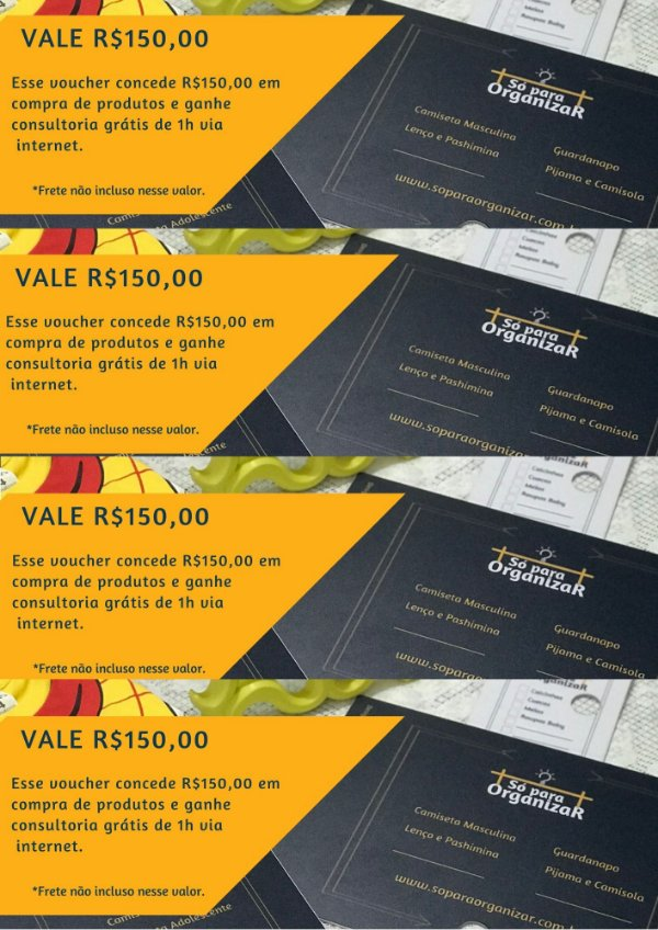 Voucher R$150,00