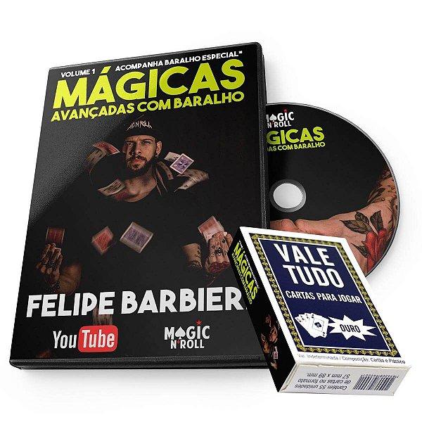 DVD Mágicas Avançadas com Baralho por Felipe Barbieri (LINK) + Baralho VALE TUDO Especial -