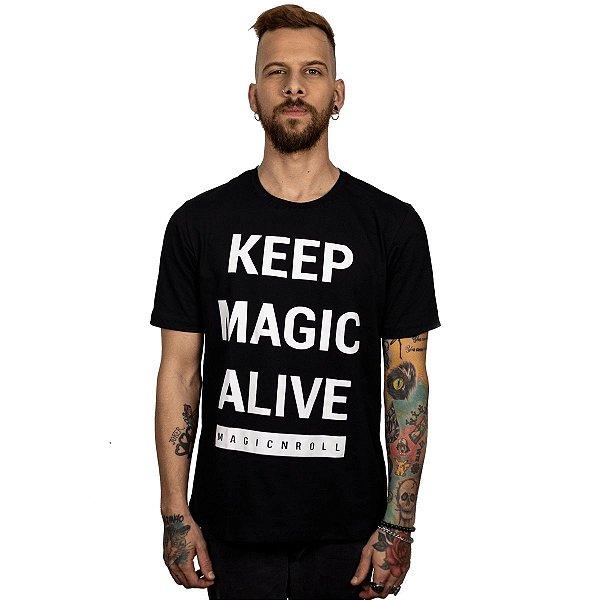 Camiseta KEEP MAGIC ALIVE (Manga Curta)