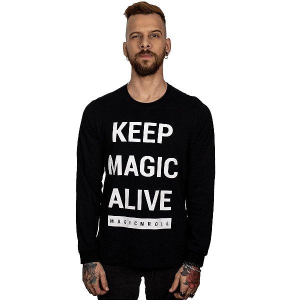 Camiseta KEEP MAGIC ALIVE (Manga Longa)