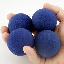 Bolinhas de espuma Azul - par (2 unidades)