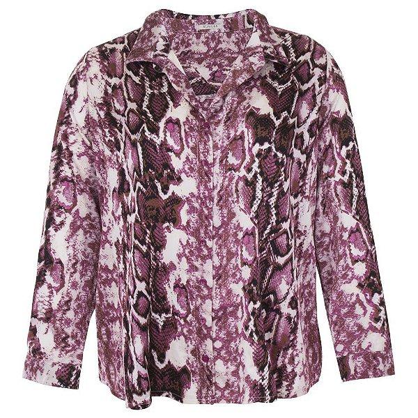 Camisa Plus Size Feminina Animal Print