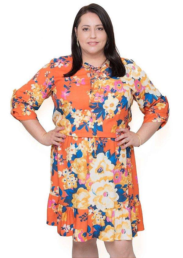 Vestido Plus Size Florido