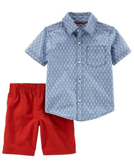 CONJUNTO CAMISA OXFORD E SHORT