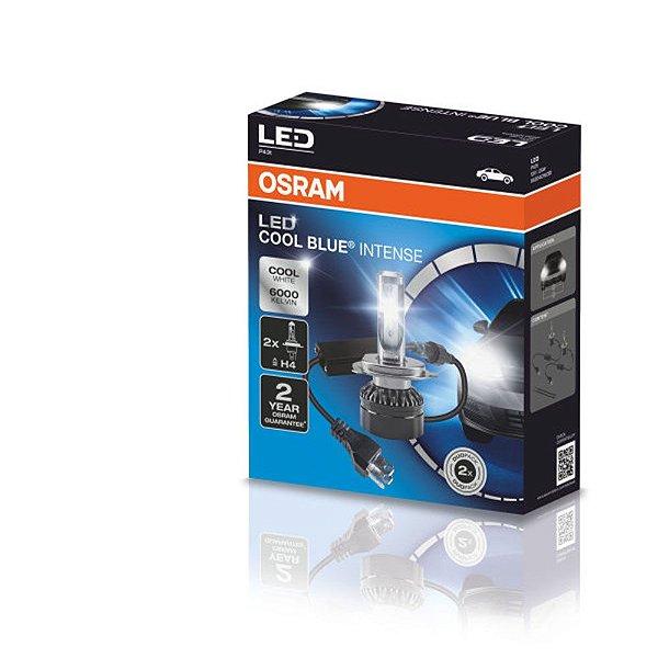 Par Lâmpada Osram Led Cool Blue Intense H4 6000k SuperBranca