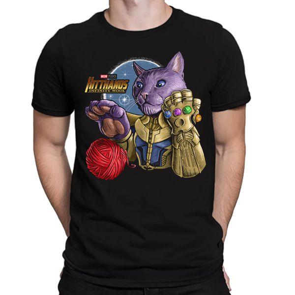 Camiseta Unissex - Vingadores - Cat Thanos