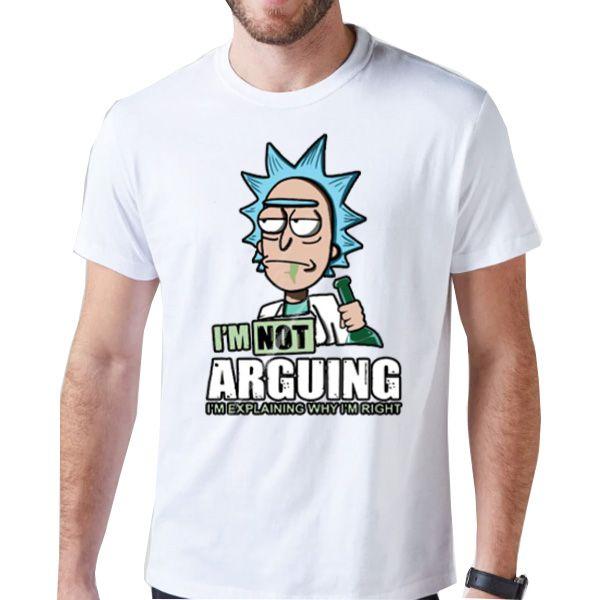 Camiseta Unissex - Rick and Morty - Arguing