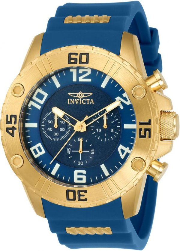 15ccc1af640 Relogio Invicta Original Pro Diver 22699 Banho de Ouro 18k Mostrador Azul