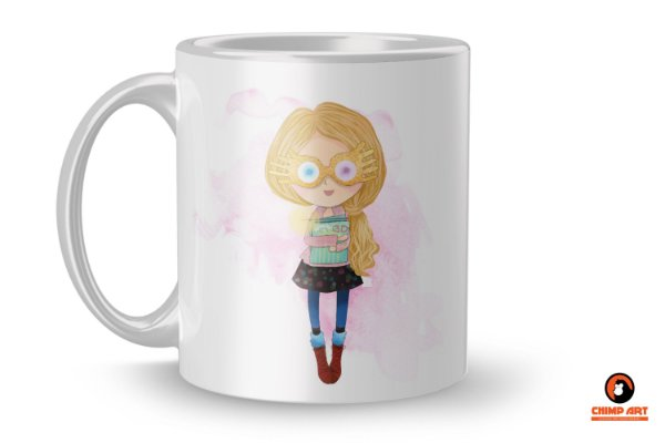 Caneca Harry Potter Aquarela - Luna Lovegood