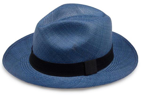 Chapéu Panamá Azul Marinho Aba Média Edição Limitada