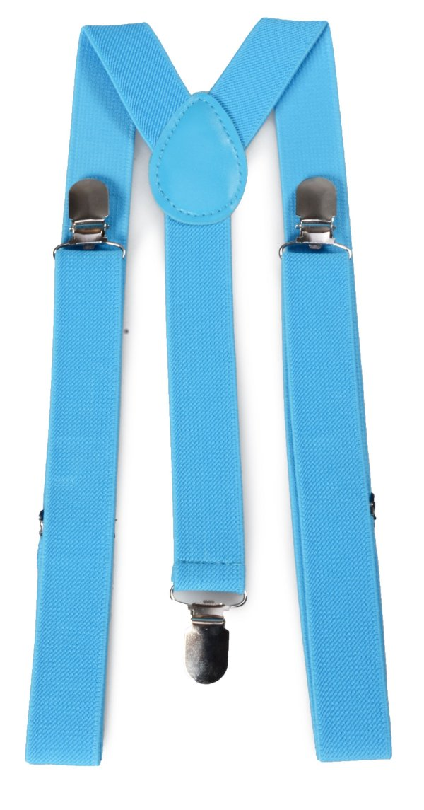 Suspensório Adulto Clássico Azul Bebê couro Azul 2,5cm