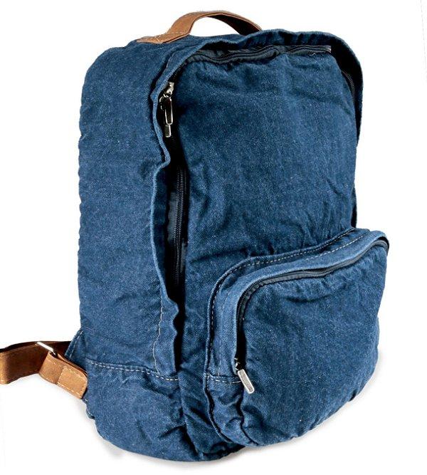Mochila Jeans Azul Escuro