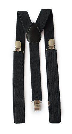 Suspensório Unissex Preto Clássico 2,5cm