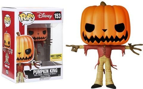 Funko Pop Hot Topic Exclusive Pumpkin King Glow in The Dark Pronta Entrega