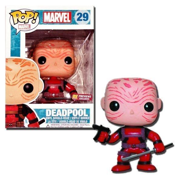 Funko Pop Deadpool Unmasked Red Exclusive Pronta Entrega