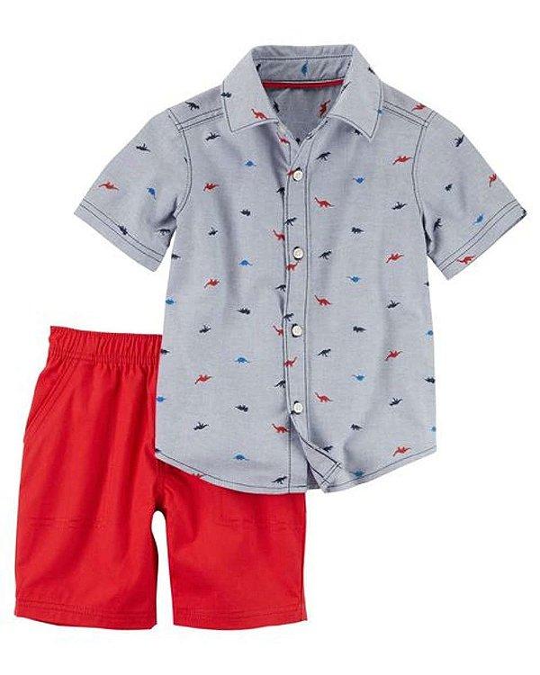 Conjunto Dinossauro 2 peças Carter's - Camisa e Short