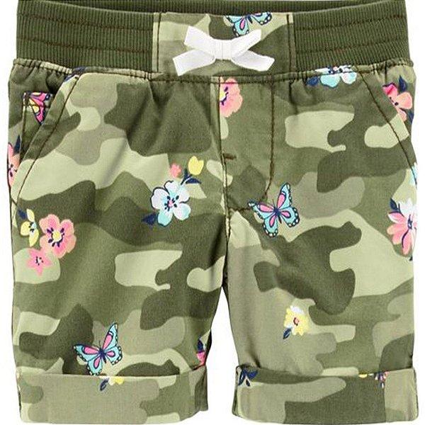 Shorts Carters - Borboletas e Flores